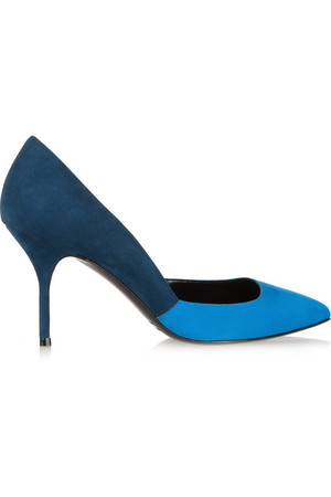 Pierre Hardy Two Tone Pointed Suede Pumps