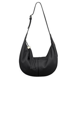 Nine West Britt Leather Hobo Bag Black