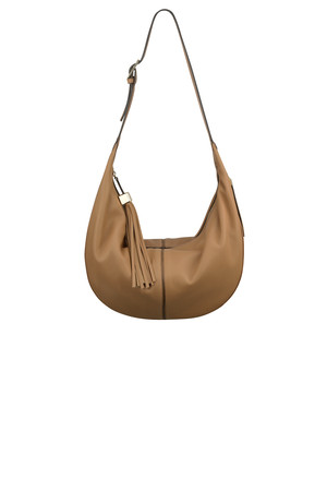 Nine West Britt Leather Hobo Bag Natural