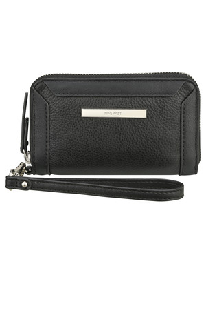 Nine West Geneva Leather Wristlet Black