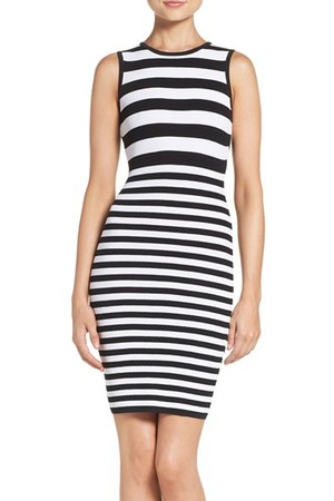 Ali Jay Stripe Body Con Sweater Dress