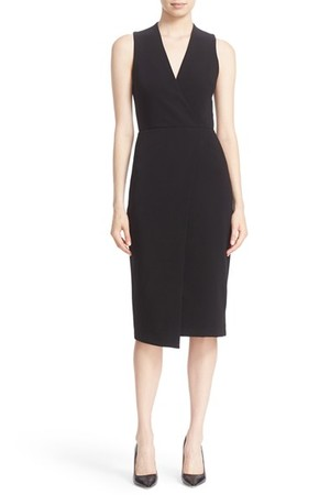 Alice Olivia Carissa Sleeveless Faux Wrap Sheath Dress
