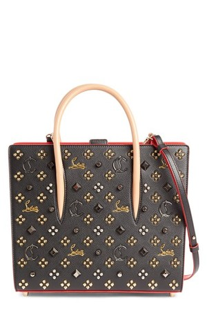 Christian Louboutin Medium Paloma Empire Spiked Calfskin Tote