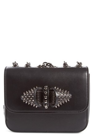 Christian Louboutin Sweet Charity Spiked Calfskin Shoulder crossbody Bag