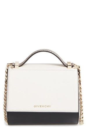 Givenchy Pandora Box Genuine Snakeskin Crossbody Bag