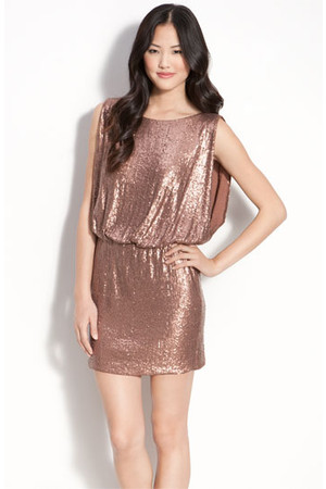 Laundry by Shelli Segal Bloused Sequin Dress