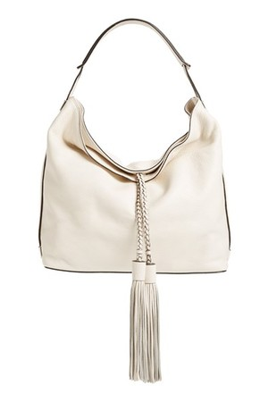 Rebecca Minkoff Isobel Tassel Leather Hobo White