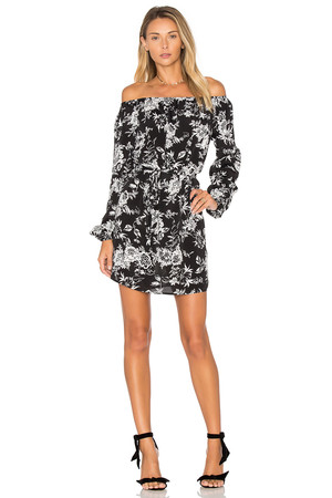 De Lacy Cala Dress in Black and White
