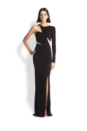 Abs One Sleeve Cutout Gown
