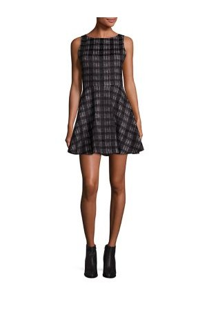 Alice Olivia Monah Plaid A Line Dress