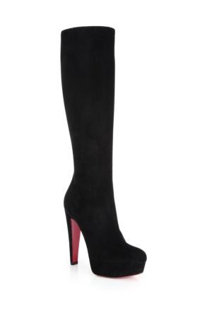 Christian Louboutin Lady Suede Knee High Platform Boots
