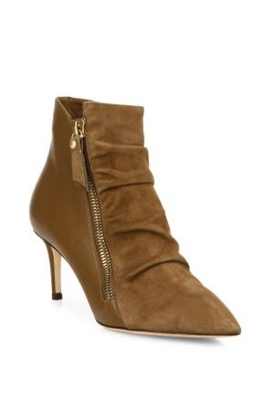 Jimmy Choo Dayton 65 Suede Leather Point Toe Booties