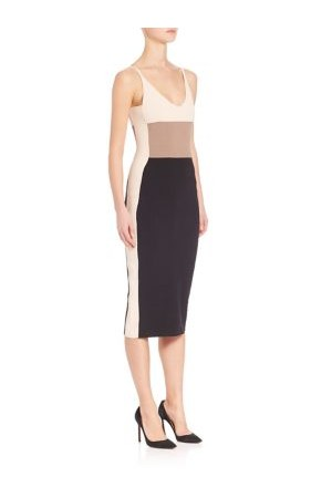 Narciso Rodriguez Knit Colorblock Dress