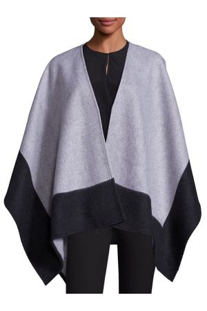 Rag And Bone Double Faced Merino Wool Reversible Poncho
