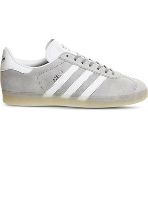 Adidas Gazelle Suede Trainers Mid grey white ice