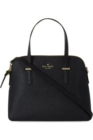 Kate Spade Cedar Street Maise Leather Over The Shoulder Handbag Black