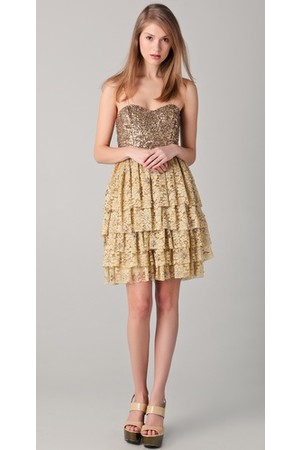 Alice Olivia Lucille Beaded Bustier Dress