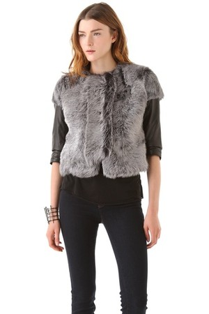 J Brand Ready to Wear Ailith Lamb Fur Jacket