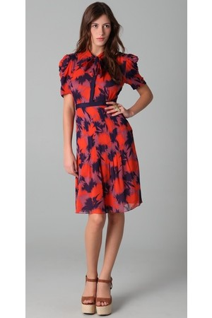 Jill Stuart Louise Paradise Print Dress