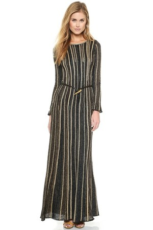 M Missoni Lurex Vertical Stripe Gown