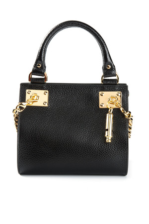 Sophie Hulme Black Mini Side Chain Bag