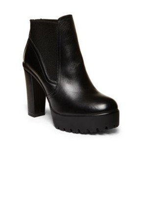 Steve Madden Amandaa Black Leather