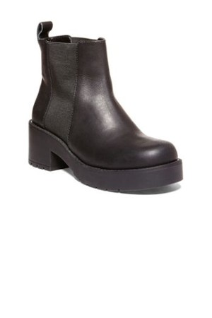 Steve Madden Daanika Black Leather