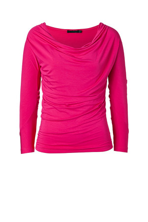 Donna Karan Shocking Pink Draped Top