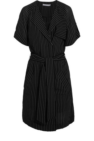 Alexander Wang Alexander Wang Pinstriped Crepe Dress Black