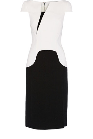 Antonio Berardi Antonio Berardi Two tone Wool crepe Dress White