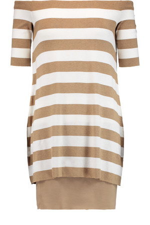 Bailey 44 Bailey 44 Concentric Striped jersey Mini Dress Camel