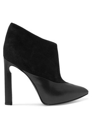 Jimmy Choo Jimmy Choo Diad Suede And Polished leather Ankle Boots Black