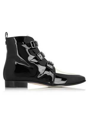 Jimmy Choo Jimmy Choo Marlin Patent leather Ankle Boots Black
