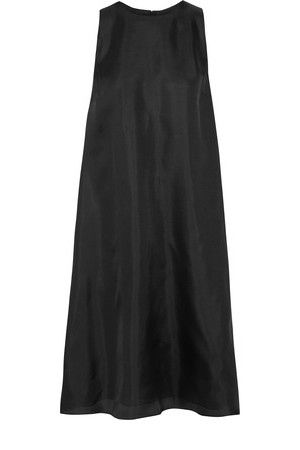 Adam Lippes Adam Lippes Cape Effect Silk Gazar Dress Black