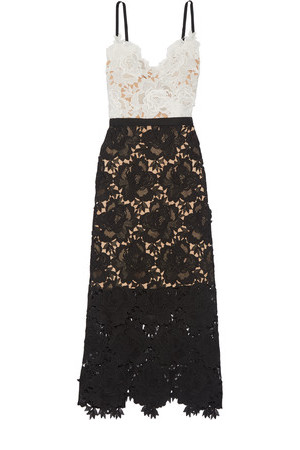 Catherine Deane Catherine Deane Frida Floral Lace Midi Dress White