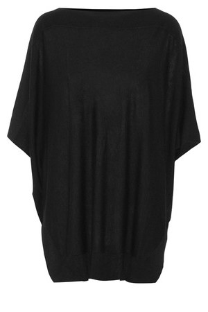 Splendid Splendid Stretch Knit Poncho Black