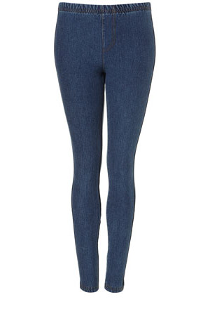 Topshop Acid Wash Denim Leggings