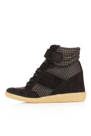Topshop AEROBIC2 Metallic Dot Hi Tops