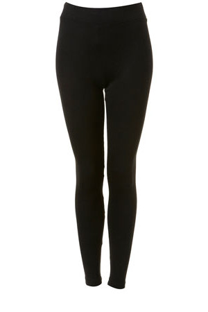 Topshop Black Heavy Weight Leggings