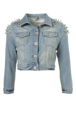 Topshop MOTO Shoulder Spike Jacket