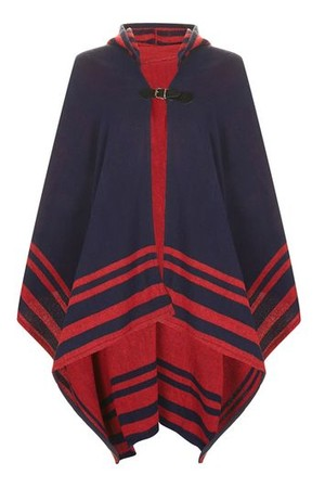 Topshop UK Border Stripe Cape
