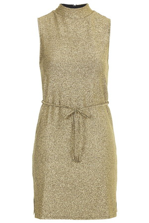 Topshop UK Metallic High Neck Tunic