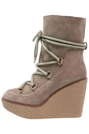 Buffalo Wedge boots taupe
