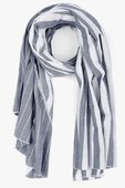 7 For All Mankind Donni Charm Donni Diagonal Scarf in White Chambray