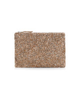 Accessorize All Over Beaded Zip Top Clutch Bag