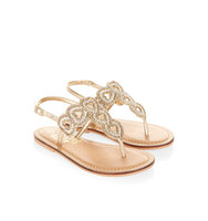 Accessorize Beaded Heart Sandals