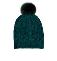 Accessorize Cable Pom Beanie Hat