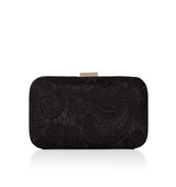 Accessorize Lace Overlay Hardcase Clutch Bag