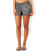 Accessorize Mono Feather Print Short