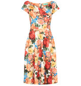 Aftershock Danai Floral Print Fit Flare Dress